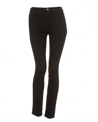 Womens J20 Black Super Stretch Skinny High Rise Jeans