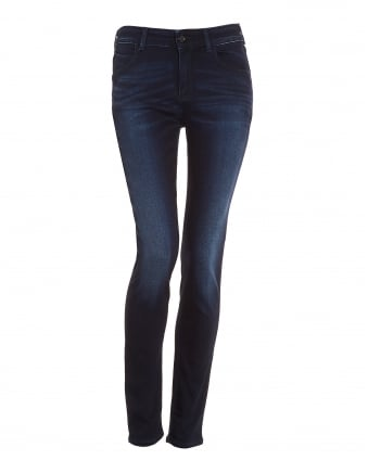 Womens J20 Jeans, High Rise Skinny Dark Wash Denim