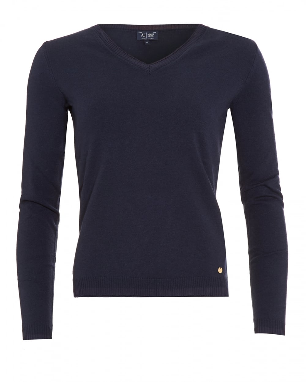 Womens Ladies Navy Blue Semi Fitted Ribbed Button V Neck Wool Acrylic Jumper L | Add to watch list Find out more about the Top-Rated Seller program - opens in a .