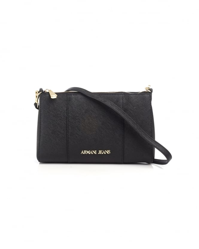Armani Jeans Womens Small Crossbody Black Bag
