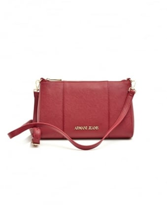 Womens Small Crossbody Bordeaux Bag