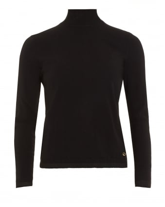 Womens Turtleneck Black Jumper