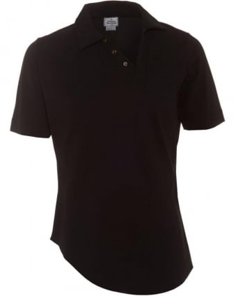 Asymmetric Polo Shirt Black Slim Fit Polo