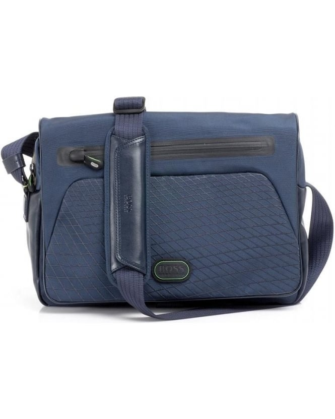 Hugo Boss Green 'Bagio' Navy Messenger Bag