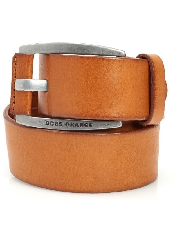 Hugo Boss Orange Bakaba-N Belt Smooth Leather Tan Belt