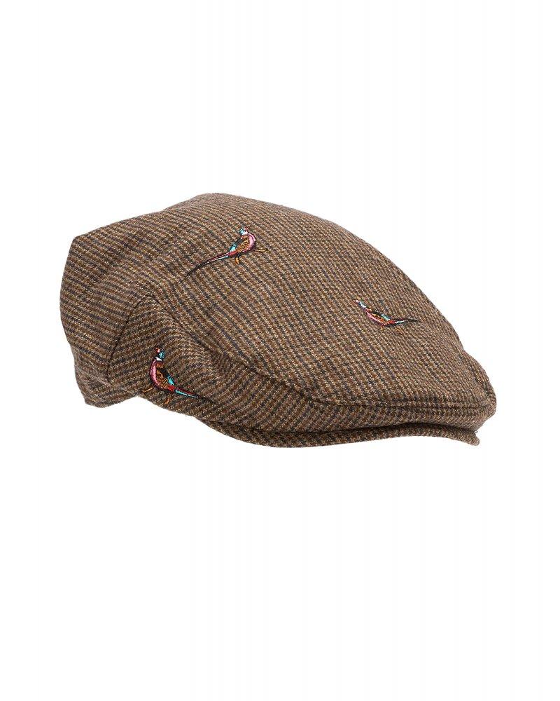 Barbour Brown Check Pheasant Flat Cap c629a0d5dd6b
