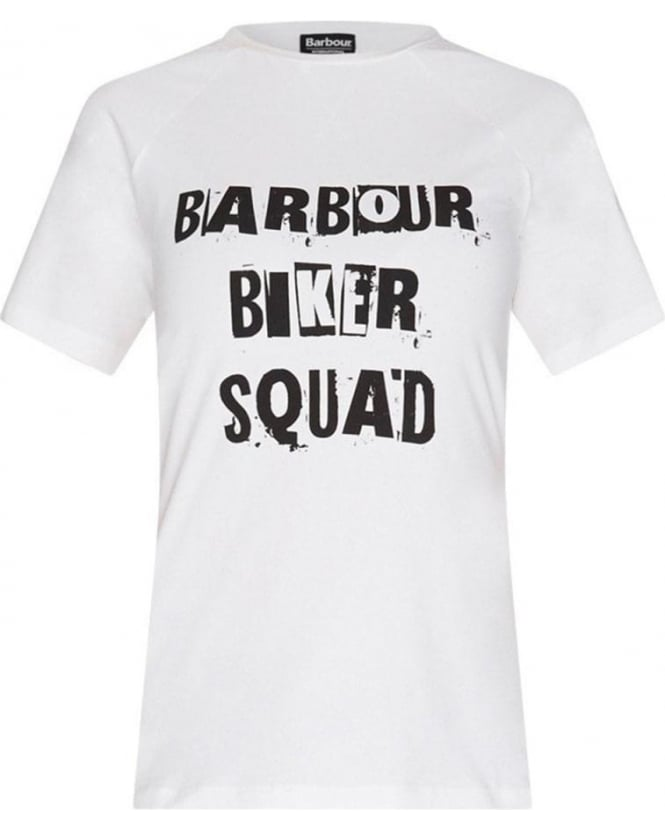 Barbour International Biker Squad Victory White T-shirt