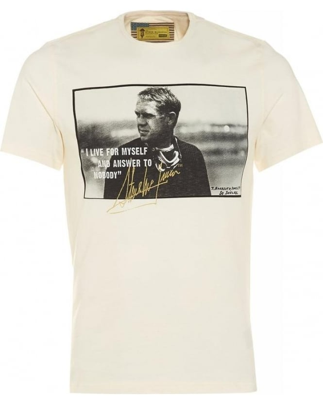 Barbour International Chalk Tanner Tee Steve McQueen™ T-Shirt