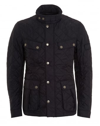 International Mens Ariel Quilt Jacket, Quilted Black Coat