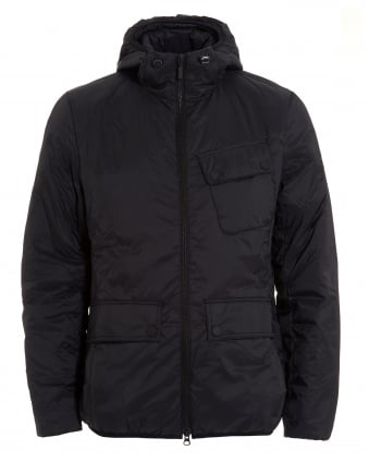 International Mens Catcher Quilt Jacket, Lightweight Black Coat