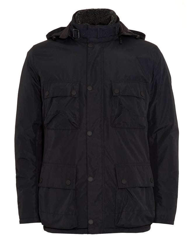 Barbour International Mens Coat, Capacitor Waterproof Black Jacket