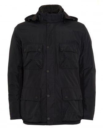 International Mens Coat, Capacitor Waterproof Black Jacket