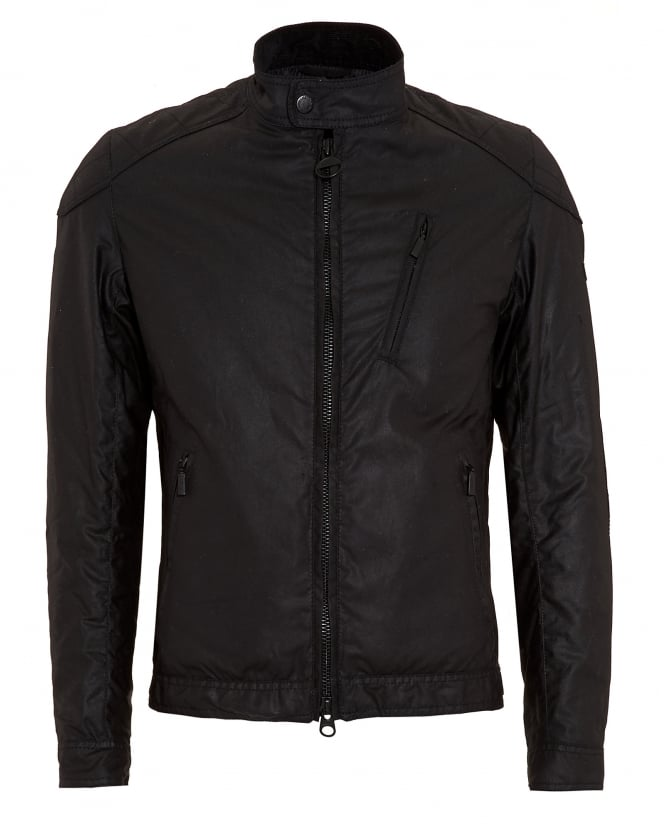 Barbour International Mens Winter Sprocket Black Waxed Jacket