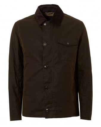 International Mens Deck Waxed Olive Green Jacket