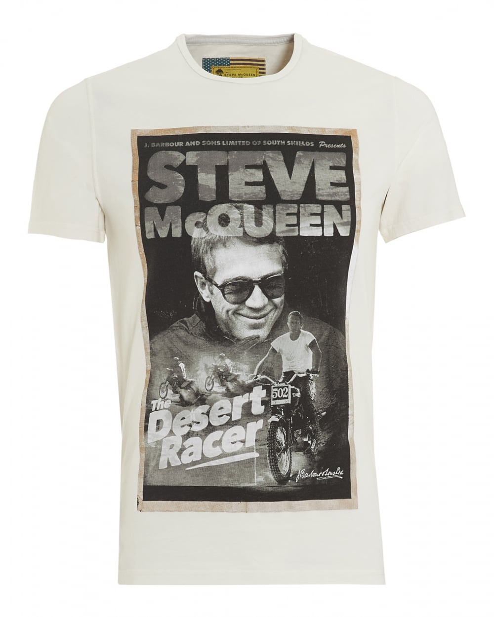 barbour international mens desert t shirt steve mcqueen neutral tee. Black Bedroom Furniture Sets. Home Design Ideas