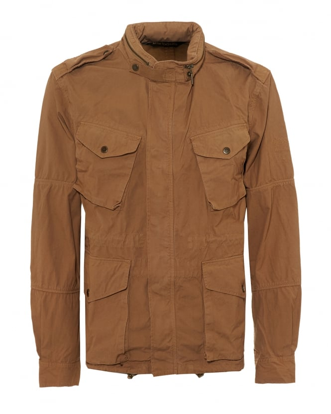 Barbour International Mens Dual Casual Jacket, Steve McQueen Beige Coat