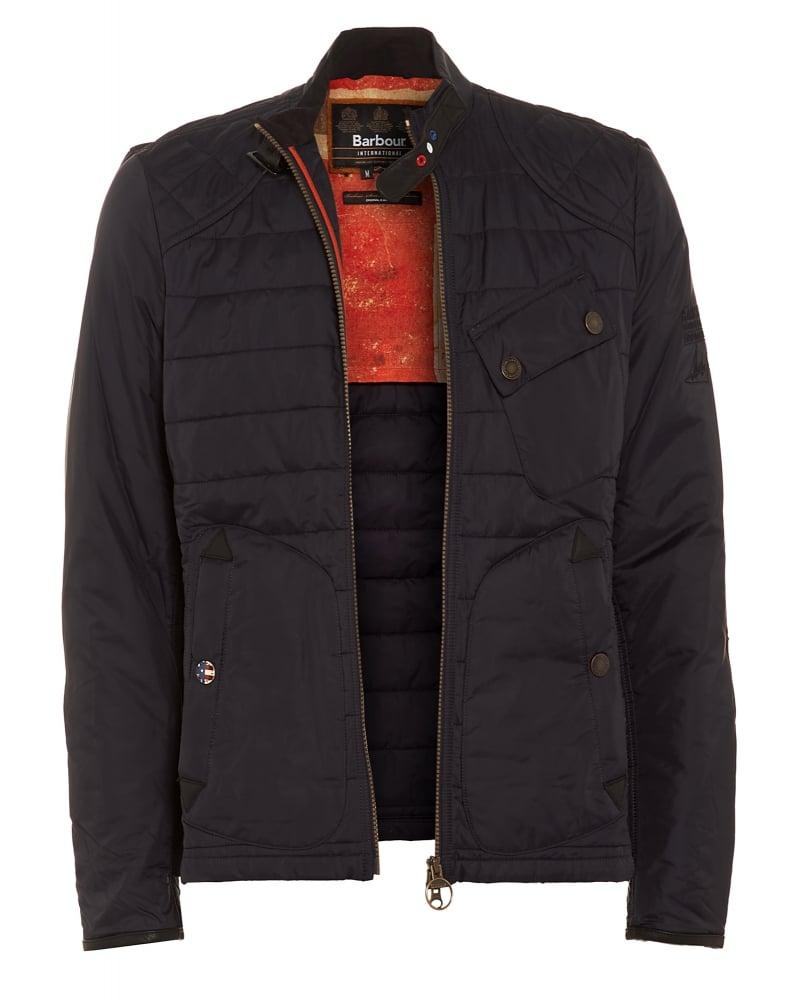 Barbour International Mens Jacket Lee Quilt Steve McQueen™ Navy Jacket : steve mcqueen quilted jacket - Adamdwight.com