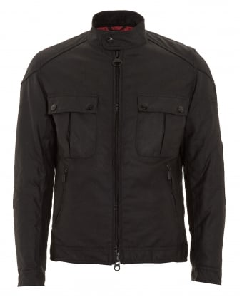 International Mens Jacket, Triumph Locking Black Wax Jacket