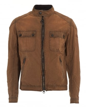 International Mens Jacket, Triumph Locking Distressed Tan Jacket