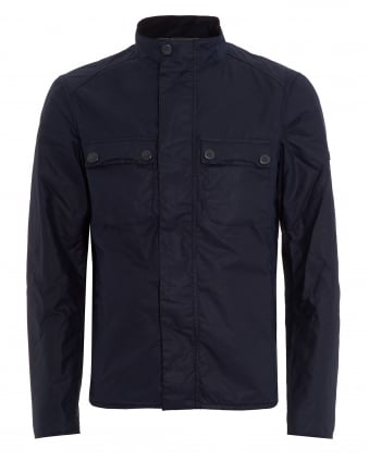 International Mens Lock Wax Jacket, Silk Wax Indigo Coat