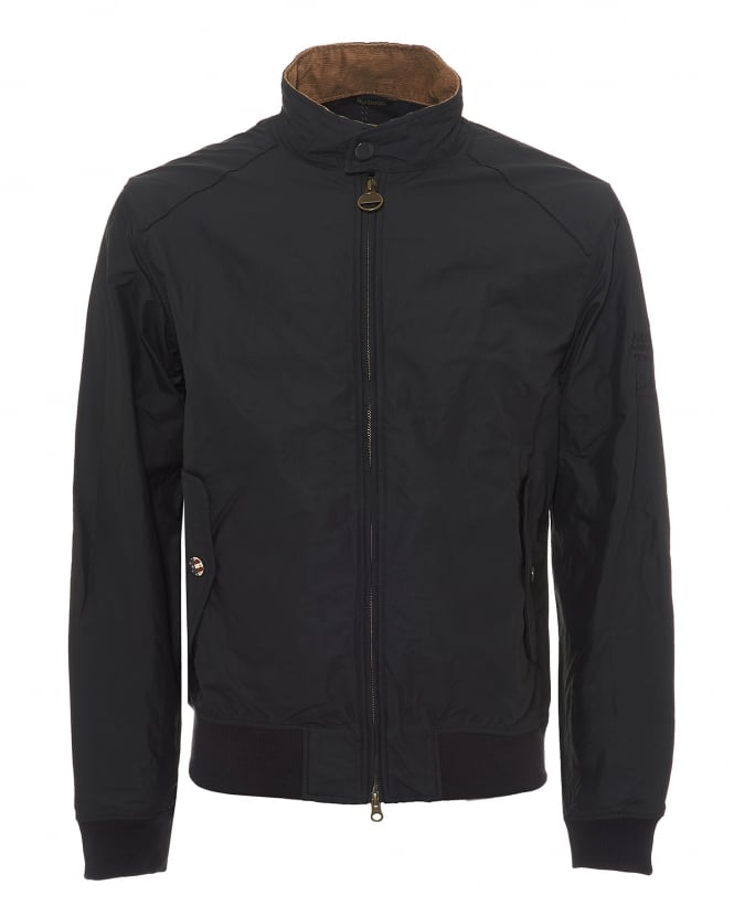 Barbour International Mens Rectifier Jacket, Steve McQueen Navy Blue Coat