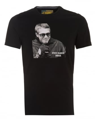 International Mens Smile T-Shirt, Steve McQueen Smile Black Tee