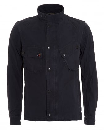 International Mens Washed 9665 Jacket, Cotton Navy Blue Coat