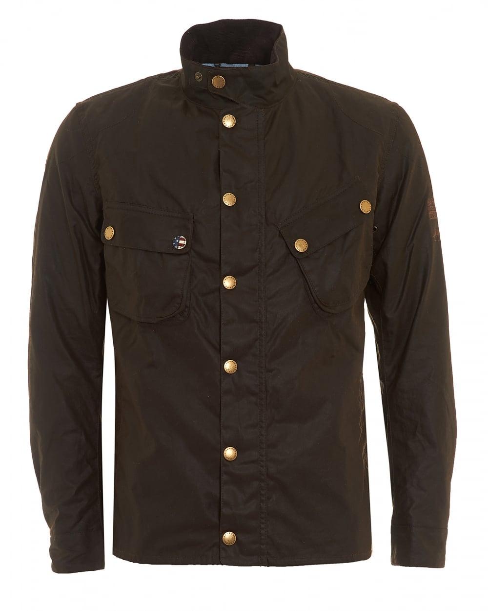 Barbour International Mens Wax 9665 Jacket, Buggy Olive ...