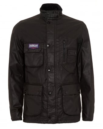International Triumph Mens Coat, Bonneville Waterproof Black Jacket