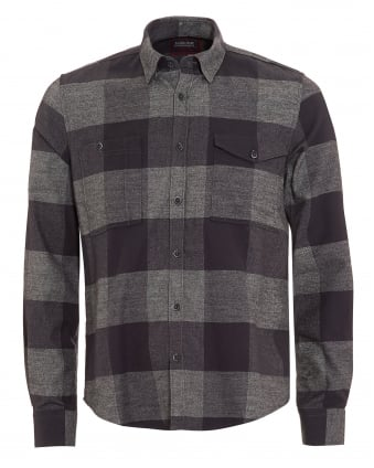 International Triumph Mens Combustion Checkered Grey Shirt