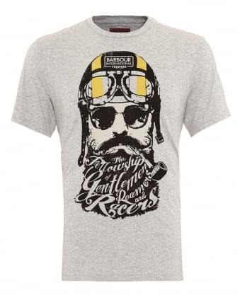 International Triumph Mens T-Shirt, Gentlemen Bearded Grey Marl Tee