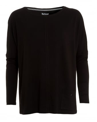 International Womens Arlen Top, Black Pocket Sweater