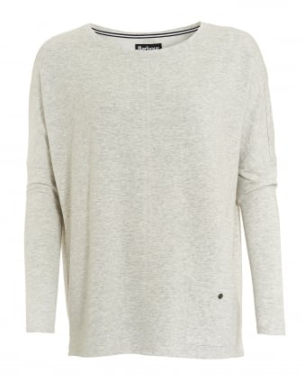 International Womens Arlen Top, Grey Marl Pocket Sweater