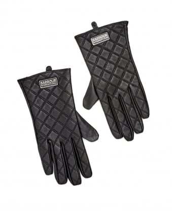 International Womens Burton Tourer Quilted Leather Gloves