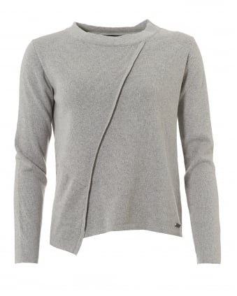 International Womens Cadwell Knitted Jumper, Grey Marl Sweater