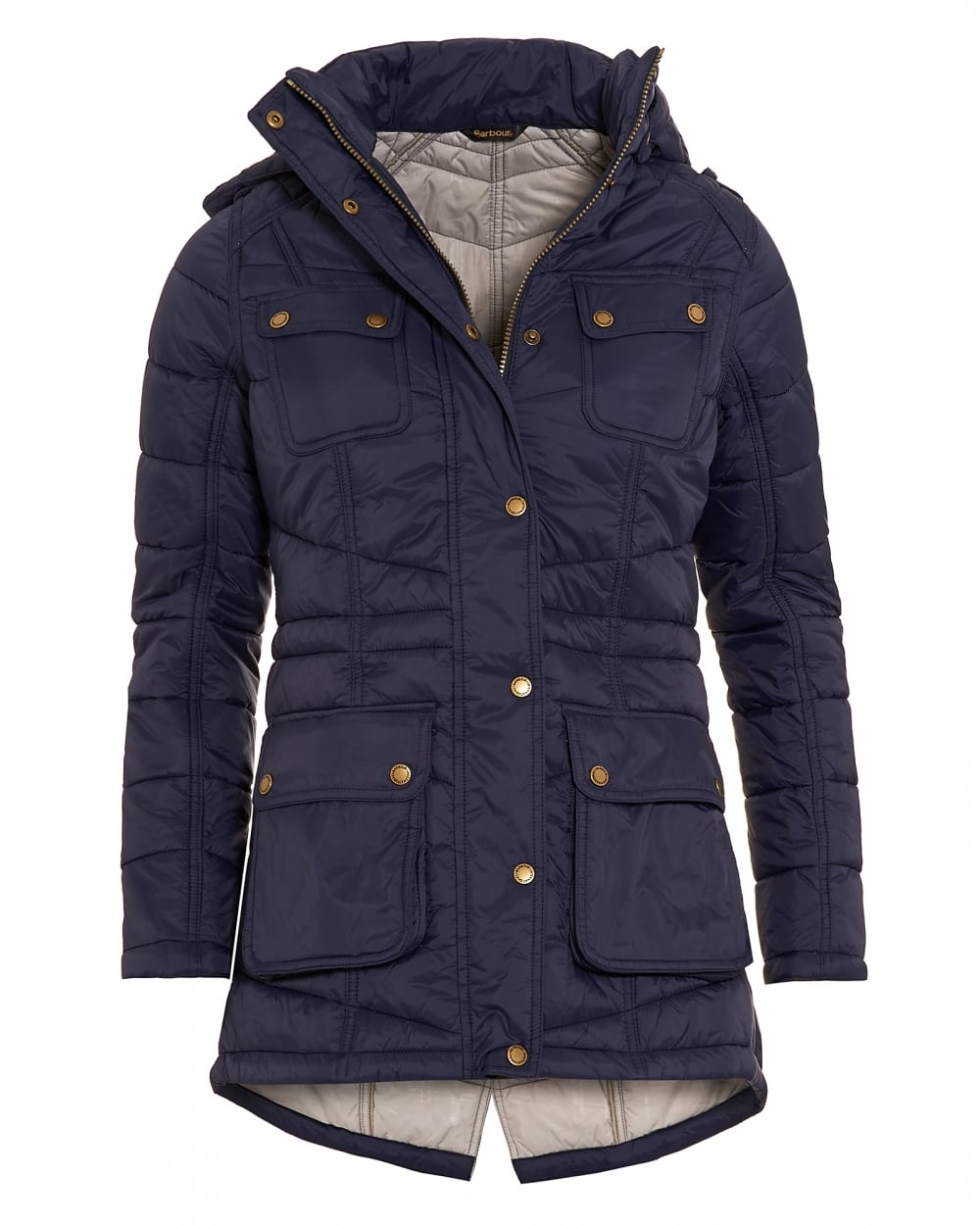 Blue leather gloves ladies uk - International Womens Circlip Quilted Jacket Navy Blue Chevron Coat