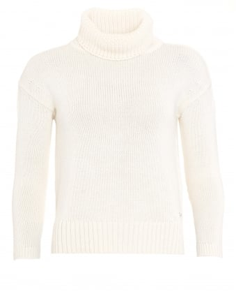 International Womens Endo Jumper, Beige Tourer Cowl Neck Sweater