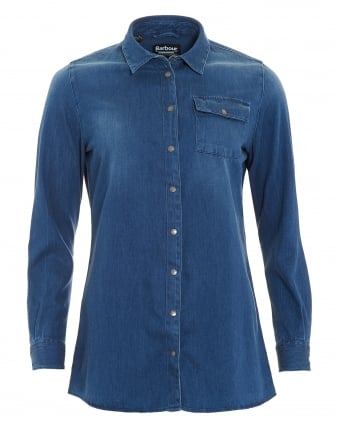 International Womens Enduro Denim Blue Shirt