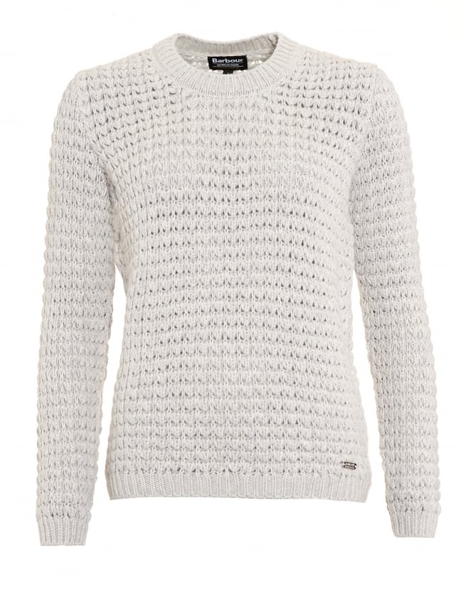 Barbour International Womens Enduro Jumper, Beige Tourer Chunky Knit Sweater