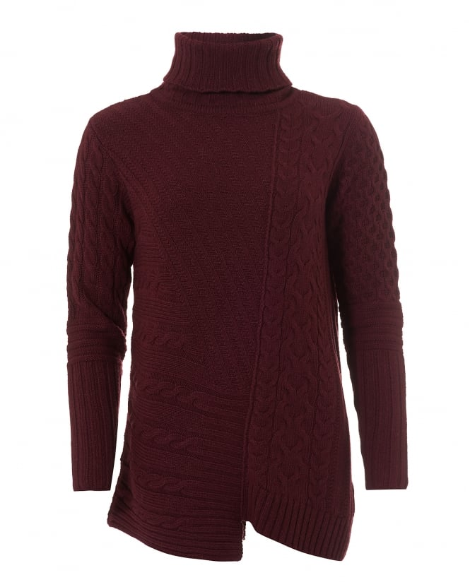 Barbour International Womens Mondello Jumper, Roll Collar Barolo Sweater