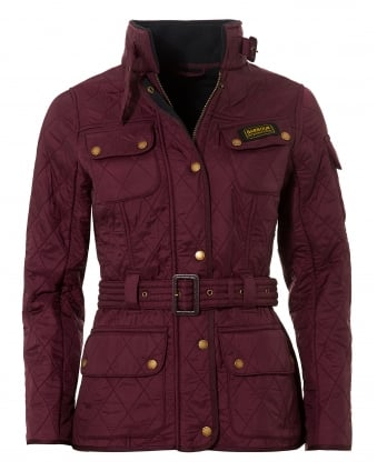 International Womens Polarquilt Jacket, Belted Barolo Coat