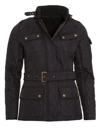 International Womens Polarquilt Jacket, Black Quilted Tourer Jacket