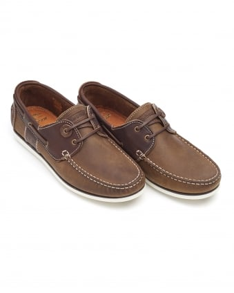 Lifestyle Mens Capstan Boat Shoes, Two Tone Beige Brown Shoes