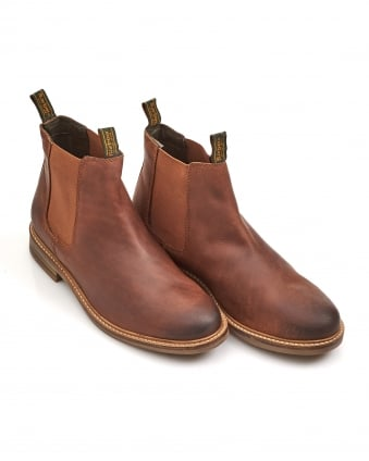 Lifestyle Mens Farsley Slip On Dark Tan Chelsea Boot