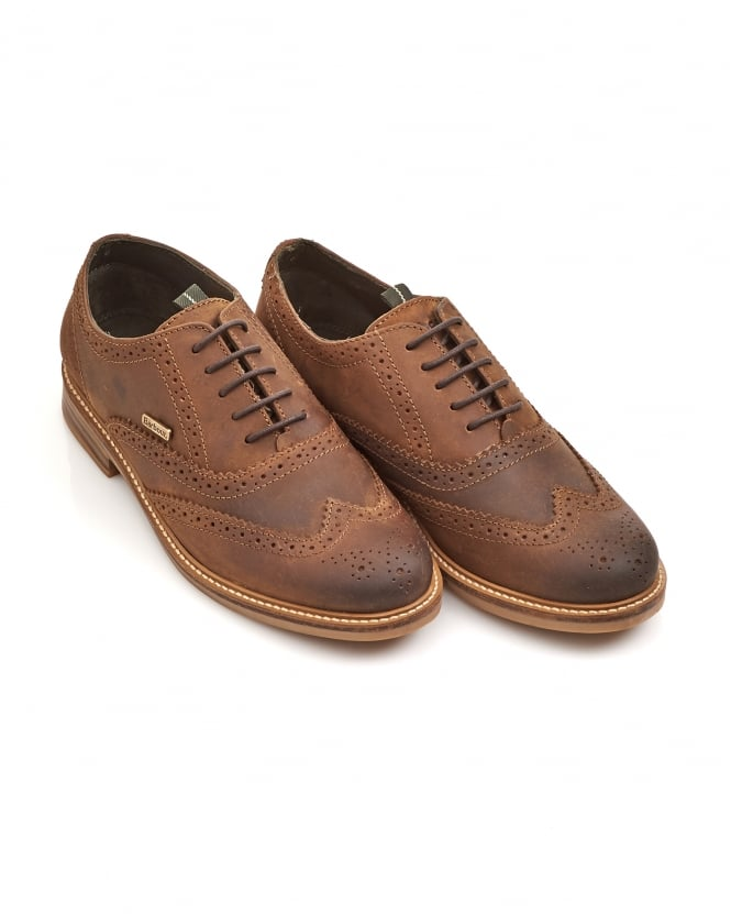 Barbour Lifestyle Mens Redcar Oxford Leather Brown Brogues