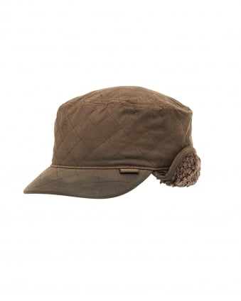 Lifestyle Mens Stanhope Wax Trapper Olive Green Hat