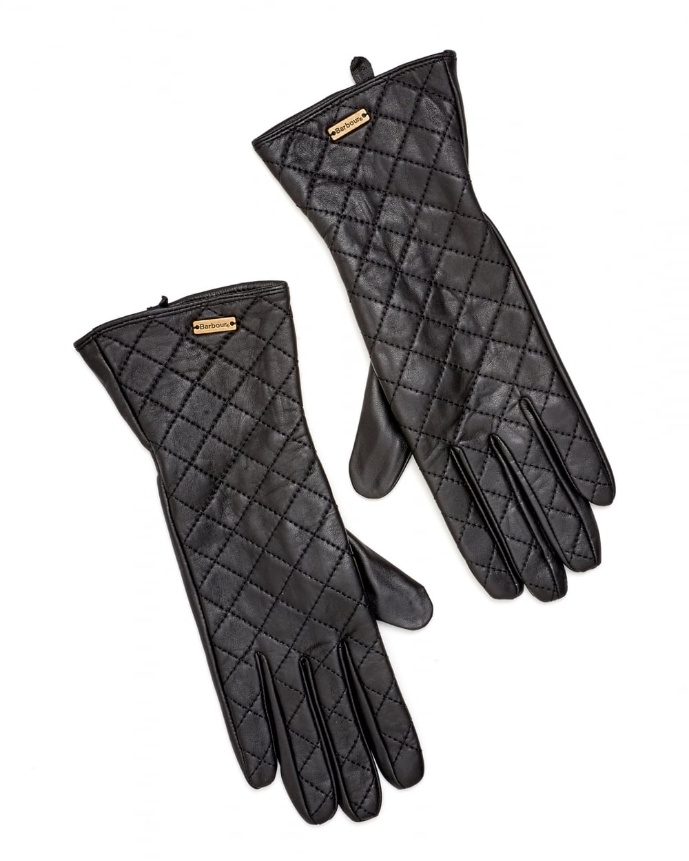 Barbour Lifestyle Womens Gauntlet Quilted Leather Gloves : barbour quilted gloves - Adamdwight.com