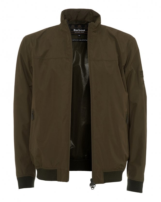 Barbour Mens Steve McQueen Olympic Army Green Bomber Jacket