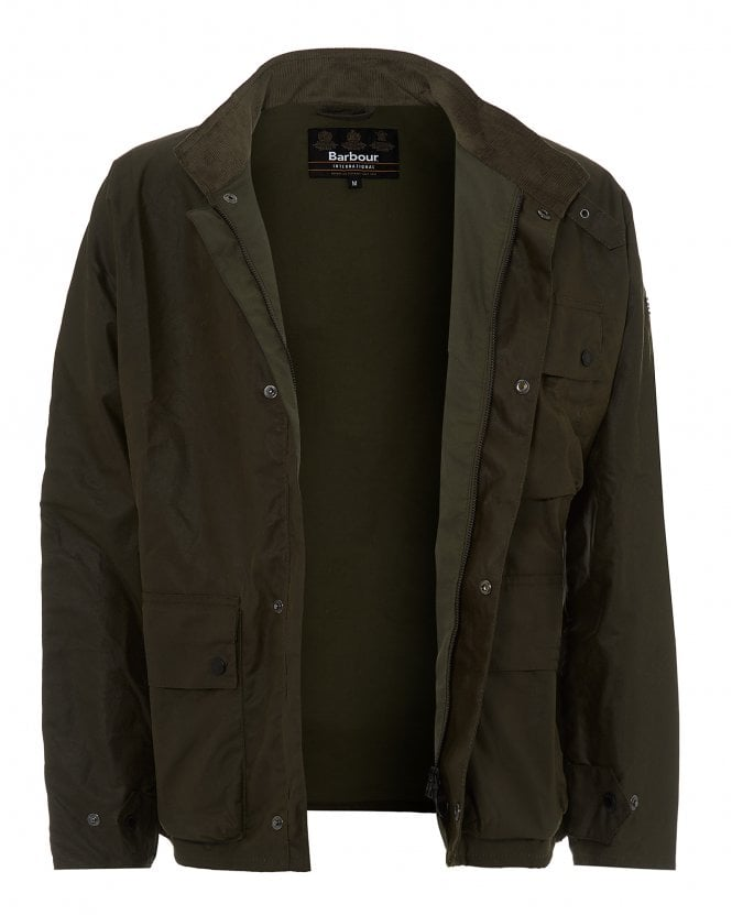Barbour Mens Trajan Wax Cord Collar Jacket