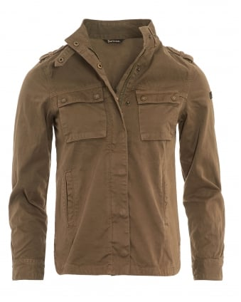 Womens Tachometer Coat, Khaki Shirt Jacket